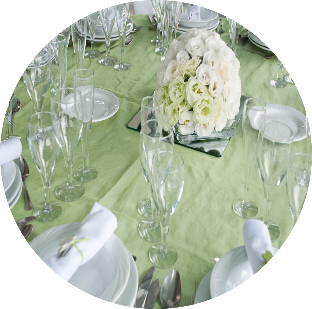 Green Table Centerpiece